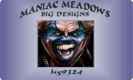 Maniac Meadows logo