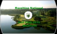 Hazeltine National Golf Club 2010 logo