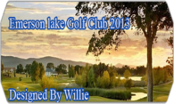 Emerson Lake Golf Club 2013 logo