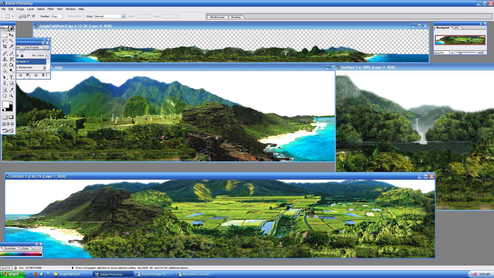 Picture of JungleFallsPano3 - click to view original size